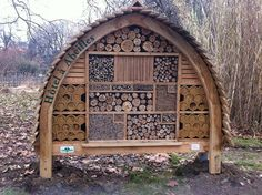 Design Journey: 10 Fab Pinterest Indoor and Outdoor Garden Finds - Star Bee Hotel by Nico's wild bees & wasps... love it!