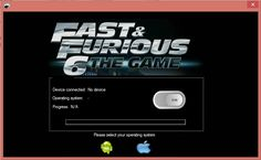 Fast and Furious 6 Smartphones Hack is a special hack for mobile device which let the user to : -unlock cars -add credits -refill fuel tank -refil NOS tank.  View more here: http://smarth4ck.blogspot.com/2013/07/fast-and-furious-6-iosandroid-fast-and.html