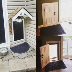 Several sweaty weekends and about 1,000 trips to Lowes later... our doggie door project is finished!! #dogdoor