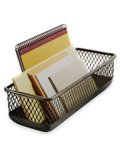See Jane Work's metal basket ($12) holds bills and more.