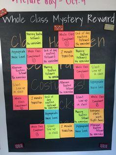 54 teacher hacks for a successful classroom decoration 10 Classroom Rewards, Classroom Behavior Management, 5th Grade Classroom, Classroom Design, Kindergarten Classroom, Future Classroom, Classroom Organization, Classroom Ideas, Behavior Goals