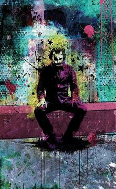 "Batman : Joker : ""Nothing. No matches on prints, DNA, dental. Clothing is custom, no labels. Nothing in his pockets but knives and lint. O Joker, Joker Und Harley Quinn, Joker Art, Joker Heath, Joker Kunst, Batman Kunst, Im Batman, Batman Art, Batman Arkham"