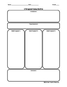brainstorming form for the paragraph essay use this page to 5 paragraph essay outline pdf file best teacher resources teacherspayteachers com