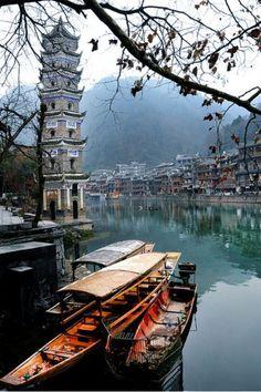 Hunan, China - travel the world Places Around The World, The Places Youll Go, Travel Around The World, Places To See, Wonderful Places, Beautiful Places, Amazing Places, Places To Travel, Travel Destinations
