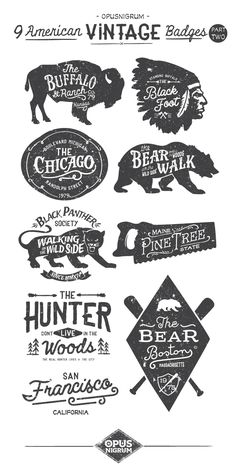 visualgraphc:  American Vintage Badges