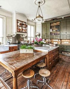 Inspiring Rustic Country Kitchen Ideas With Inspiring Rustic Country Kitchen Ideas. Trendy Inspiring Rustic Country Kitchen Ideas With Inspiring Rustic Country Kitchen Ideas. Kitchen Island Storage, Farmhouse Kitchen Island, Kitchen Island Table, Modern Kitchen Island, Small Space Kitchen, New Kitchen, Kitchen Islands, Kitchen Ideas, Small Kitchens