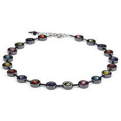 Hematite and Polaris Pearls Necklace - Multicolored - Coeur De Lion Jewelry $130