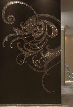 Glitter wall design