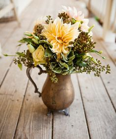 Floral Pitcher Centerpieces