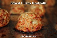 Meatball Recipes, Turkey Recipes, Baked Turkey, Roasted Turkey, Healthy Eating Recipes, Healthy Food, Diabetic Recipes, Healthy Meals, Bean Recipes