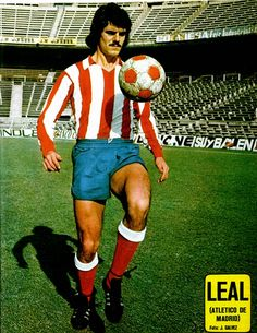Eugenio Leal of Atletico Madrid in 1976.