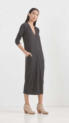 Raquel Allegra // V-Neck Dress