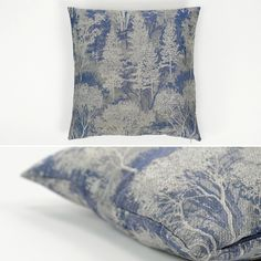 Capa de Almofada Labirinto Árvore Azul 45 x 45 cm | A Loja do Gato Preto | #alojadogatopreto | #shoponline | referência 12668515