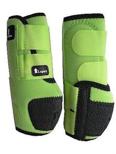 Lime green Legacy System protective sport boots!  www.wildhorsecolo... Horse Boots, Horse Gear, Horse Tack, Western Tack, Western Riding, Classic Equine, Barrel Racing Tack, Horse Riding Clothes, Horse Accessories