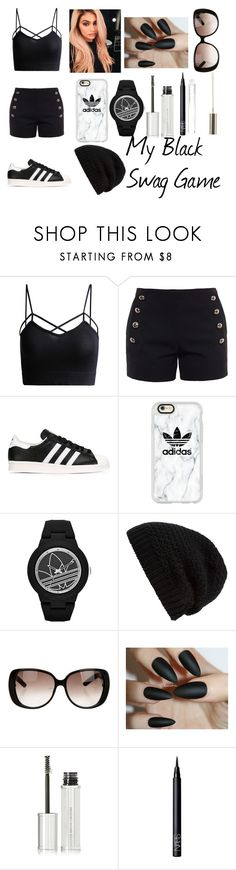 """""""My Black Swag Game"""" by jaden-norman ❤ liked on Polyvore featuring Chloé, adidas Originals, Casetify, adidas, Rick Owens, Gucci, Givenchy, NARS Cosmetics and Boohoo"""