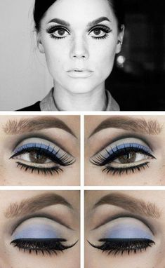 Twigs Eyes Twiggy Eyes - Retro hair and makeup ideas that you can use in another . - Twigs Eyes Twiggy Eyes – Retro hair and makeup ideas that take you back in time – Photos The mo - 60s Makeup And Hair, Twiggy Makeup, Retro Makeup, 70s Disco Makeup, Twiggy Hair, 1970s Makeup Eyes, Sixties Makeup, Mod Makeup, 70s Makeup Look