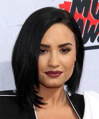 View yourself with this Demi Lovato Medium Straight Black Bob Haircut Quick Braided Hairstyles, Black Hairstyles With Weave, Curly Weave Hairstyles, Bob Hairstyles, Braids For Black Hair, Black Curly Hair, Hair Color For Black Hair, Medium Hair Cuts, Medium Hair Styles