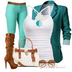 blazer/torquoise