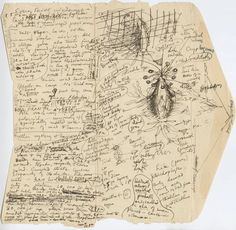 H.P. Lovecraft's Original Sketch and Notes for MOUNTAINS OF MADNESS