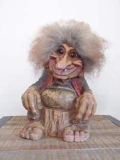 "Vintage Large 12"" Norwegian Nyform Storyteller Troll Statue #109"