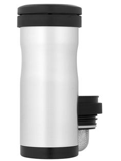 The Thermos Nissan Tea Tumbler with Infuser has a removable mesh infuser for steeping hot tea on the go.