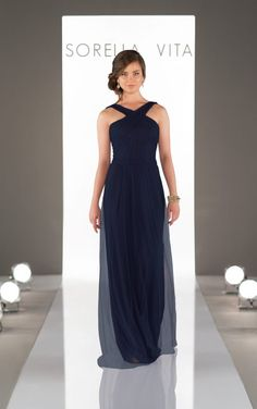 Flowing Criss-Cross Strap Bridesmaid Dress - Sorella Vita