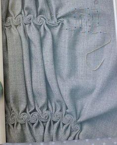 Bellos pliegues con rosas | costura | Postila
