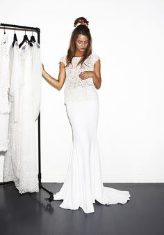 Mariée016 Lookbook | Rime Arodaky | Two piece wedding dress with lace top