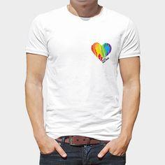 """Camiseta Gay Heart Alado (17,95€)  Camiseta blanca 100% algodón con diseño exclusivo """"Heart Alado"""" dentro de la Colección """"Corazones y plumas"""" ¿Y tú? ¿De qué tienes relleno el corazón?"""