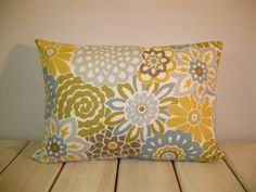 Button Blooms by Waverly 14x20 pillow cover by dewhickey on Etsy, $25.00
