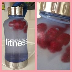Add frozen fruit to your water bottle. // 24 Fitness Hacks That Will Make Exercising Easier