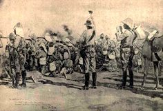General Gatacre giving the signal to cease firing at the end of the Battle of Omdurman in 1882