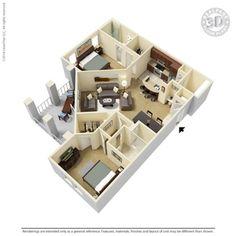 2 Bedroom - B2 Floor-plan   Ooltewah, TN Integra Hills Floor Plans   Apartments in Ooltewah, TN - Floor Plans