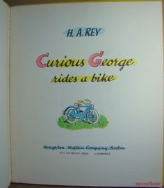 Curious George Rides a Bike (1952) Title page