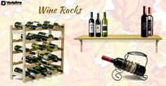 Display your Wine in Fancy Racks #WineRacks   #BarAccessories   #BarStools   #BarTables   #BarSets   #BarCabinets   #FabFurnish   #Snapdeal