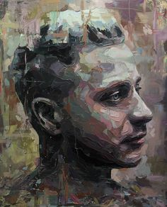 Contemporary Oil Painting Emotional Portraits by Joshua Miels #OilPaintingMan