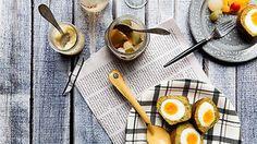 Falafel scotch eggs   Middle Eastern recipes   SBS Food
