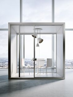 Acoustic office booth with built-in lights ACOUSTIC ROOM By FANTONI