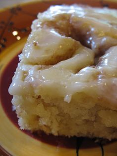 Cinnamon Roll Cake- I made this last night and brought it into work.  AMAZING.  I will be making this again!