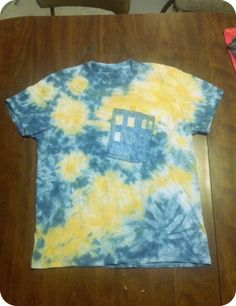 Dr Who Starry Starry Night Inspired Tie Dye by TheNerdCottage