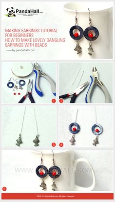 Making Earrings Tutorial for Beginners - How to Make Lovely Dangling Earrings with Beads
