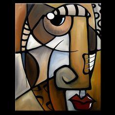 Stylized - Original Abstract painting Modern pop Art Contemporary Cubist Face by Fidostudio - Tom Fedro Canvas Art, Canvas Prints, Art Prints, Tableau Pop Art, Pop Art Collage, Cubist Art, Abstract Face Art, Arte Pop, African Art