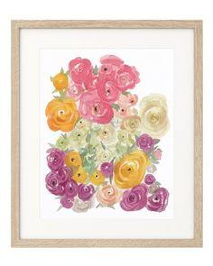 Watercolor Peonies 8x10 Art Print