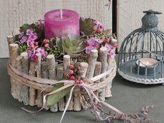 Flower Decorations, Table Decorations, Christmas Diy, Christmas Decorations, This Little Piggy, Floral Foam, Button Crafts, Ladder Decor, Flower Arrangements