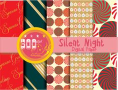 Items similar to Christmas digital paper Seamless Christmas backgrounds, Christmas wrapping paper vintage style x 14 on Etsy Digital Scrapbook Paper, Digital Papers, Digital Backgrounds, Silent Night, Red Gold, Design Elements, Scrapbooking, Unique Jewelry, Handmade Gifts
