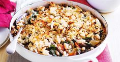Warm up the family with this hearty Tuscan white bean casserole.