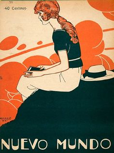 Rafael de Penagos. An original cover for the Spanish magazine Nuevo Mundo, dated 1922