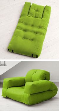 """Yesterday, we mentioned about """"Creative Ways to Repurpose Old Stuff"""", now in this post we have some creative products for small space. Enjoy! Book shelf chair 