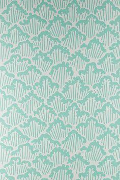 Aranami by Farrow & Ball - Sage Green - Wallpaper : Wallpaper Direct Wallpaper Stencil, Old Wallpaper, Geometric Wallpaper, Pattern Wallpaper, Bathroom Wallpaper, Farrow Ball, Textile Patterns, Print Patterns, Farrow And Ball Kitchen