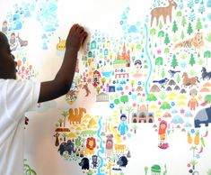 Map of the World Wall Stickers for Kids Room